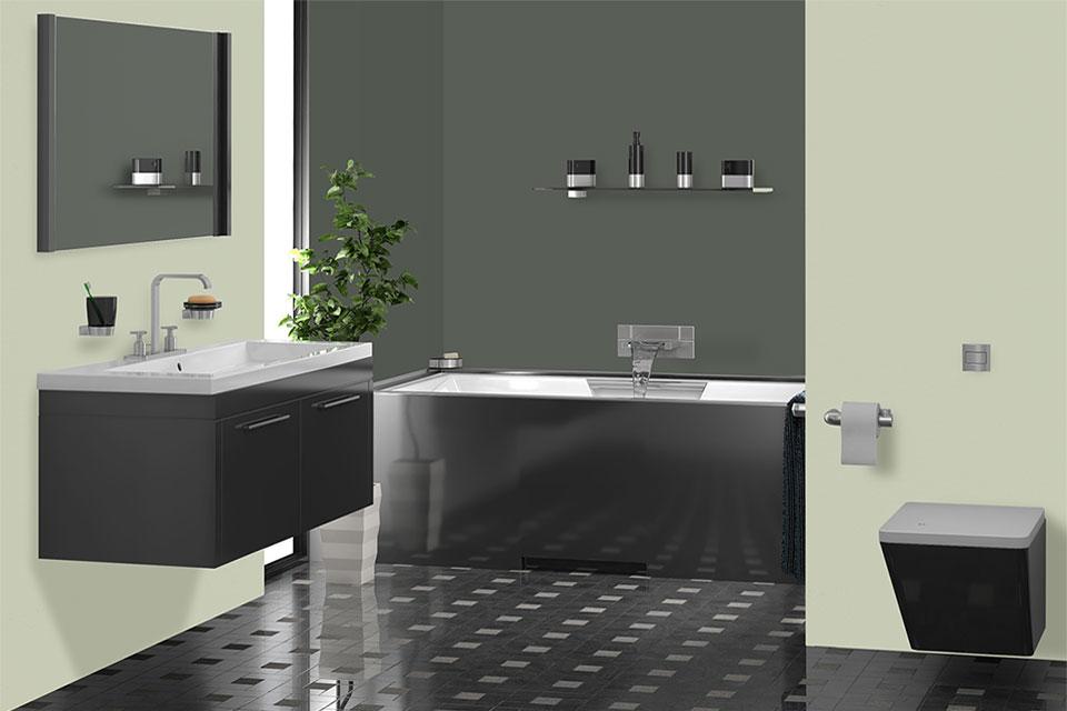 Bagni - Moderno con vasca - Linvea Industria Vernici Italiana