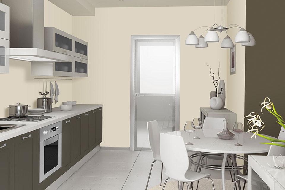 Cucine piccola cucina con tavolo linvea industria vernici italiana - Tavolo per cucina piccola ...