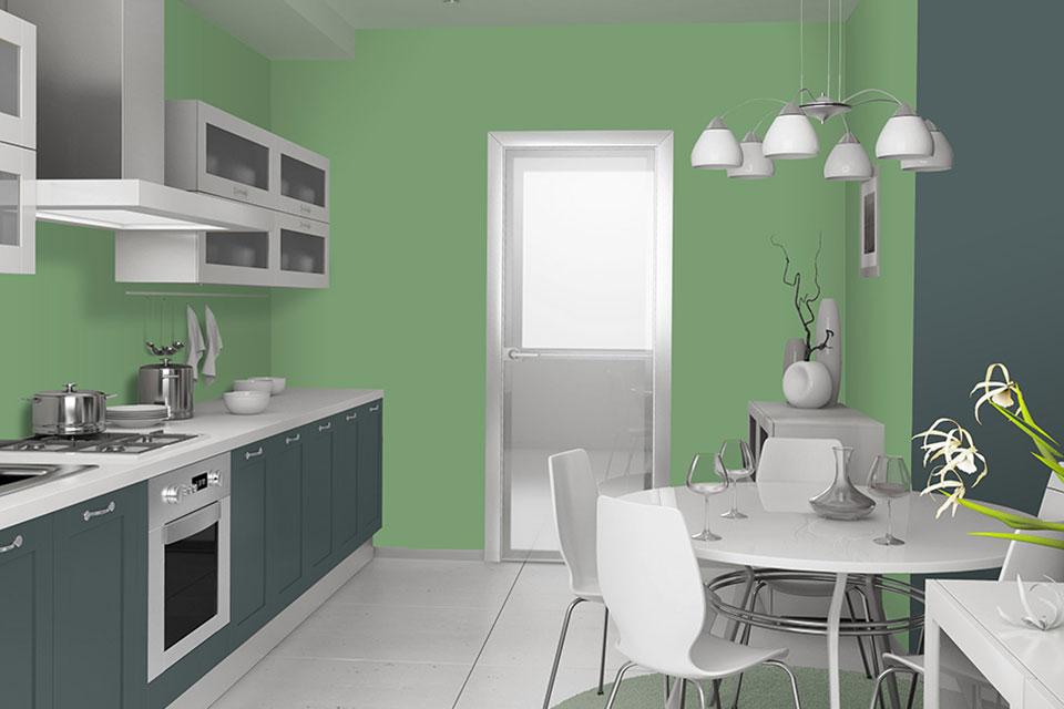Cucine - Piccola cucina con tavolo - Linvea Industria Vernici Italiana